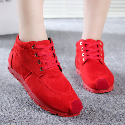 2015 the spring and autumn period and the type of shoes suede flat recreational canvas shoes han edition student tide shoes sneakers English short boots