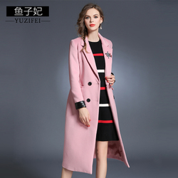 [新品特惠]胖妹妹秋冬新款大码女装胖mm加厚中长款大衣女宽松呢子毛呢外套