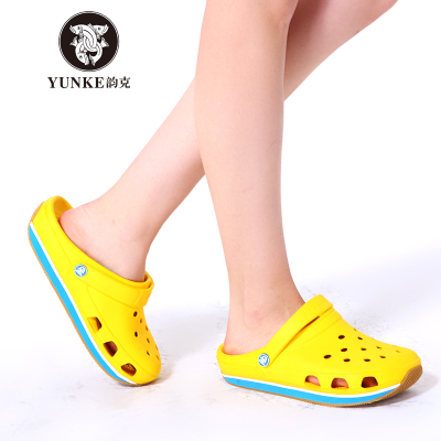 Yun g 2014 new summer lovers hole shoes casual shoes, sandals and slippers for men and women slip sandals Baotou shipping