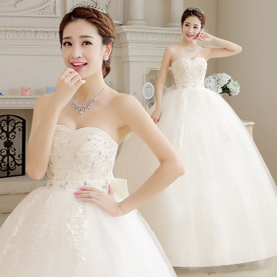 Korean version of the new winter 2014 fashion diamond big yards was thin waist Bra Qi pregnant bride wedding dress