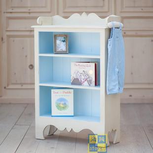 美式田园清新实木边几边柜玄关柜小书柜定制上海地中海实木家具