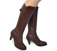 2015秋冬新款韩版骑士靴 侧拉链皮带扣中跟粗跟高筒靴女靴长靴子