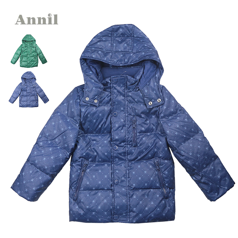安奈儿男童装 2014年新款短款中厚羽绒服AB445423专柜正品 特价