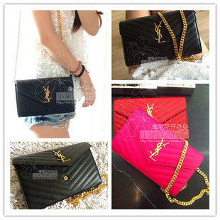 e122d0b525 [ Purchasing ] YSL Yves Saint Laurent Millet recommended lychee leather YSL  Logo WOC chain bag