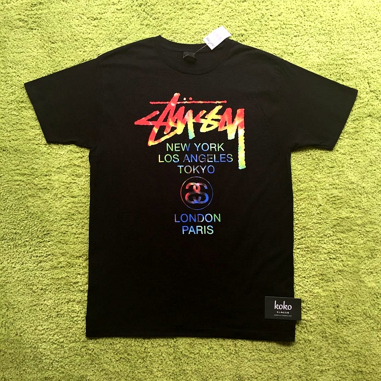 [现货正品]Stussy Tie Dye World Tour Tee 世界巡游 彩虹扎染T恤