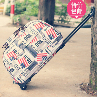 Free shipping luggage trolley bag tote bags excursions foldable luggage trolley bag men and women