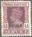 Place the stamps British India stamp affixed with Mr Diana in 1938 king George vi