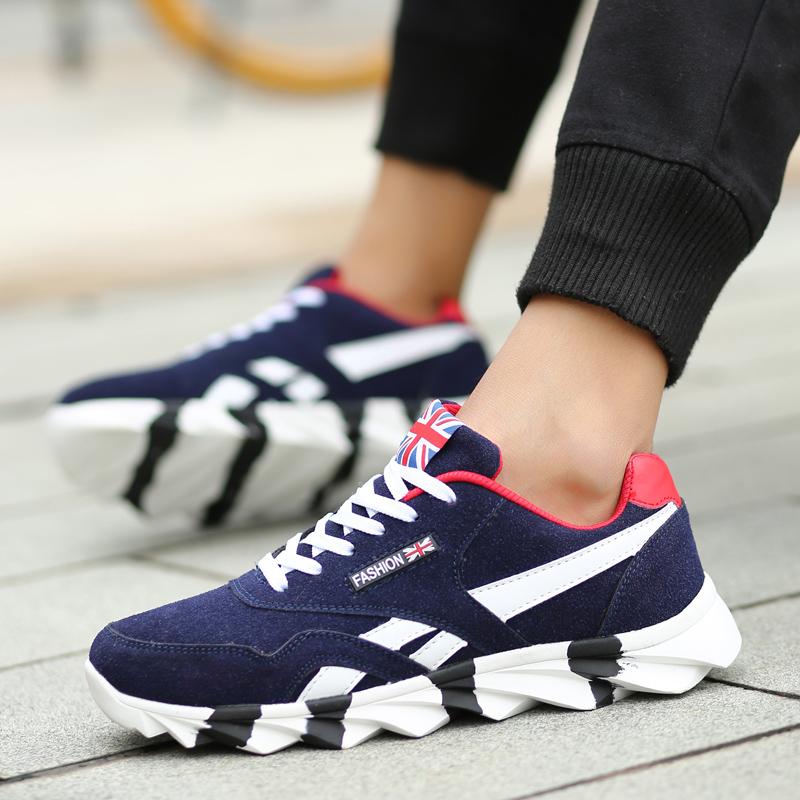 春夏季板鞋潮流男士透气帆布鞋韩版休闲鞋跑步鞋学生运动鞋男鞋子