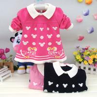 女童线衣小童冬天打底衫宝宝婴幼儿童韩版娃娃衫纯棉线衣细线上衣
