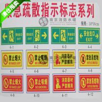 紧急疏散指示牌/安全出口/地上标/禁止吸烟/消防器材/禁止标贴