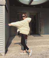 2015韩版新款冬季蝙蝠袖棉袄加厚女装连帽棉衣外套面包服潮包邮