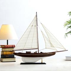 大号美国木质帆船模型桌面摆件橱窗装饰摆件简单手工组装一帆风顺