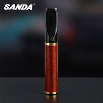 sanda活性炭过滤芯型烟嘴 花梨木循环型可清洗烟嘴过滤器健康烟具
