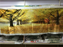 Suzhou embroidery embroidery boutique Su embroidery products hand embroidery The sitting room adornment embroidery painting scenery golden avenue