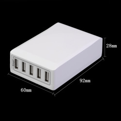 2017 Newest Portable Smart Charger 5 Ports USB Hub Adapter f