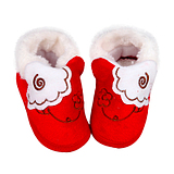 Autumn and winter boots baby shoes newborn baby anti-skid cotton velvet jacket warm gloves and socks toddler shoes