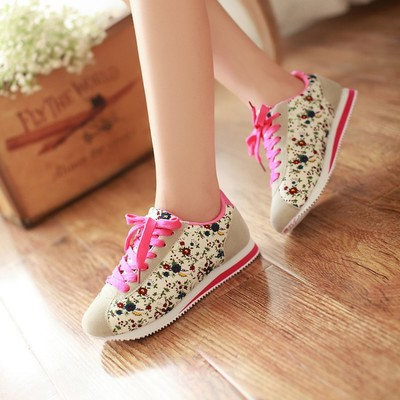 Sports canvas shoes girl summer 12-13-14-15-16 and 17 year olds junior high school students girls shoes