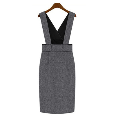King fendi fall and winter in Europe and America big yards Slim woolen vest skirt dress casual street style fashion bottoming skirt