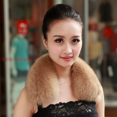 Italian Miro real fur scarf Haining fur fur collar male Ms. Fox Fur Collar warm autumn and winter scarf