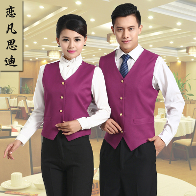 Waiters and waitresses supermarket cashier KTV overalls vest vest vest advertising Mall shopping guide service volunteers