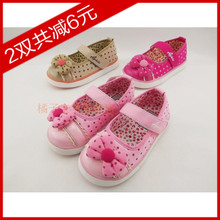 Authentic phooey beibei 2013 bowknot dot square opening paragraph in the spring and autumn autumn female baby child's shoes A3318