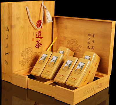 Eyebrow tea gift boxes top paulownia off Mr. Jin super high-end gift gift boxes eyebrow Mr. Jin tea