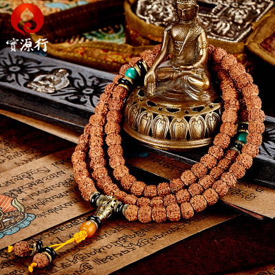 Featured meat Pu Tizi 108 small diamond pattern Nepal Tibetan prayer beads bracelet bracelets men's accessories necklace