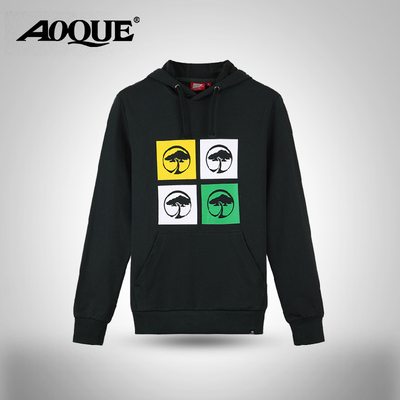 aoque / continental forest in autumn and winter fashion men's sports stretch pullover hooded sweater coat Korean youth
