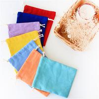 布叮原创帆布袋 日系糖果纯色收纳袋束口袋抽绳袋礼品袋 多功能包