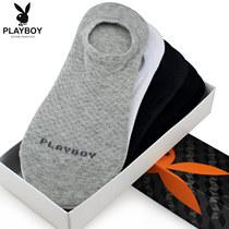花花公子袜子男士船袜夏季隐形袜运动防滑低帮浅口男袜薄款短袜男