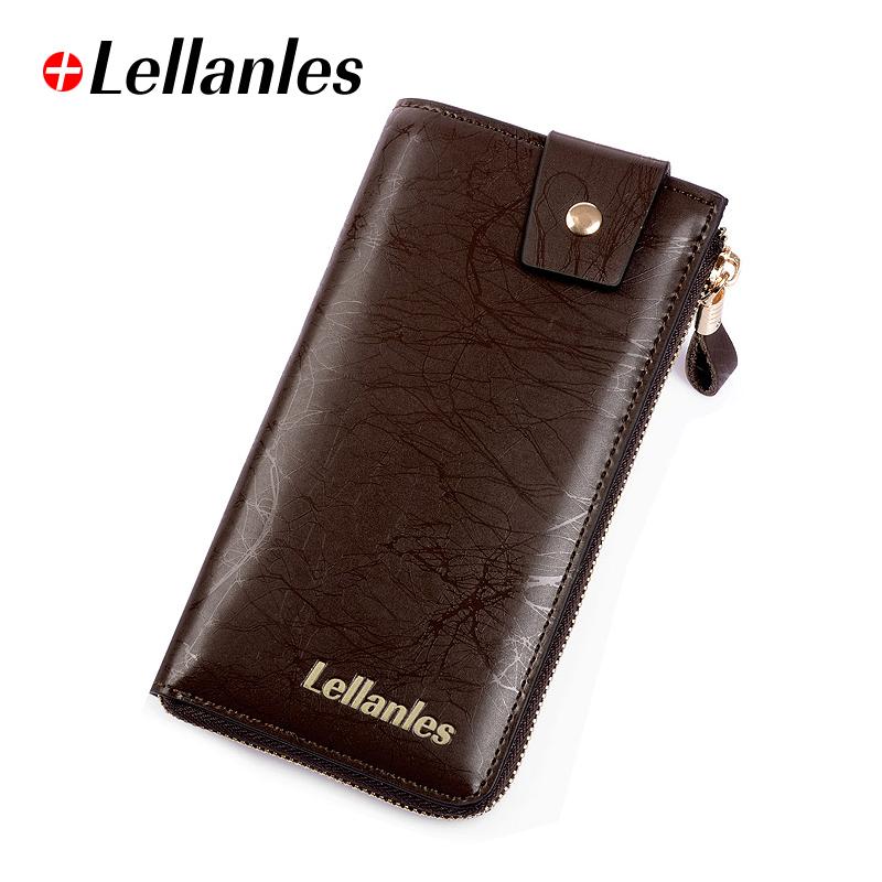 莱伦莱斯 男士手包牛皮 商务手拿包男式钱包长款韩版 手机包