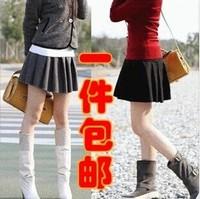 秋冬裙女新款韩版裙子高腰裙时尚蓬蓬裙冬季毛呢短裙半身裙百褶裙