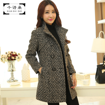 Thousands of poetry duo 2014 new winter coat Korean female long section thick woolen coat Nizi temperament elegant