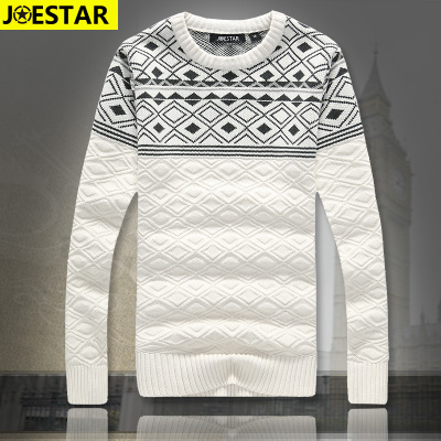 JOESTAR autumn and winter sweater thick white cotton men sweater hedging Korean tidal XL line of clothing