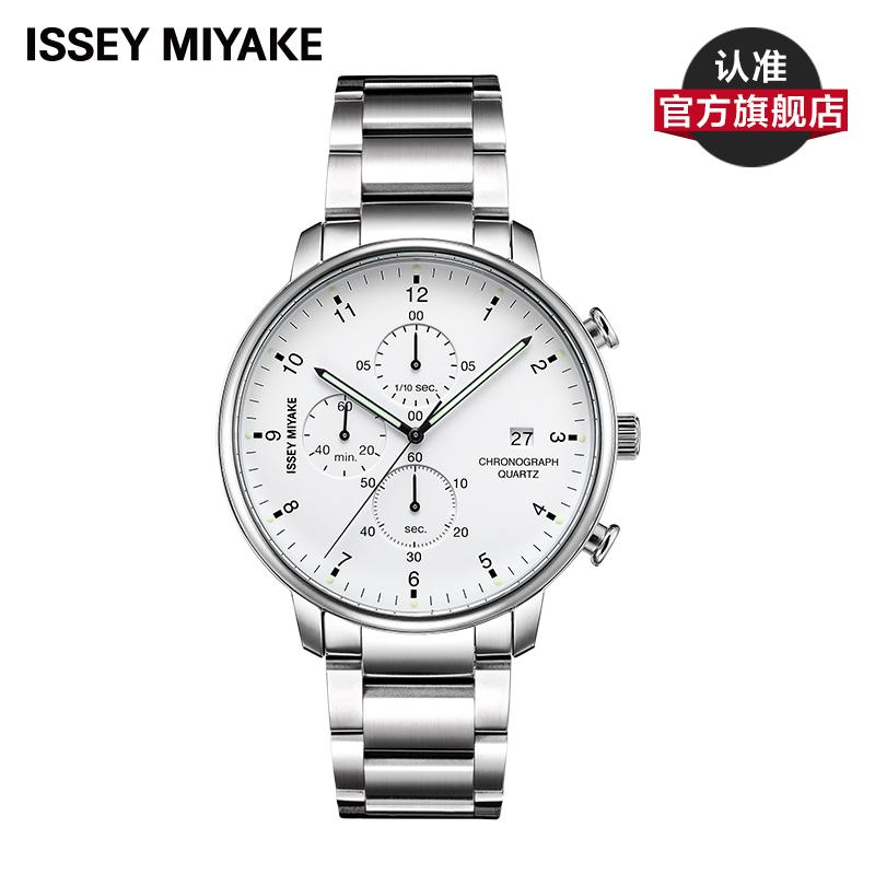 Issey Miyake C系列 三宅一生三眼计时男表商务时尚休闲男士手表