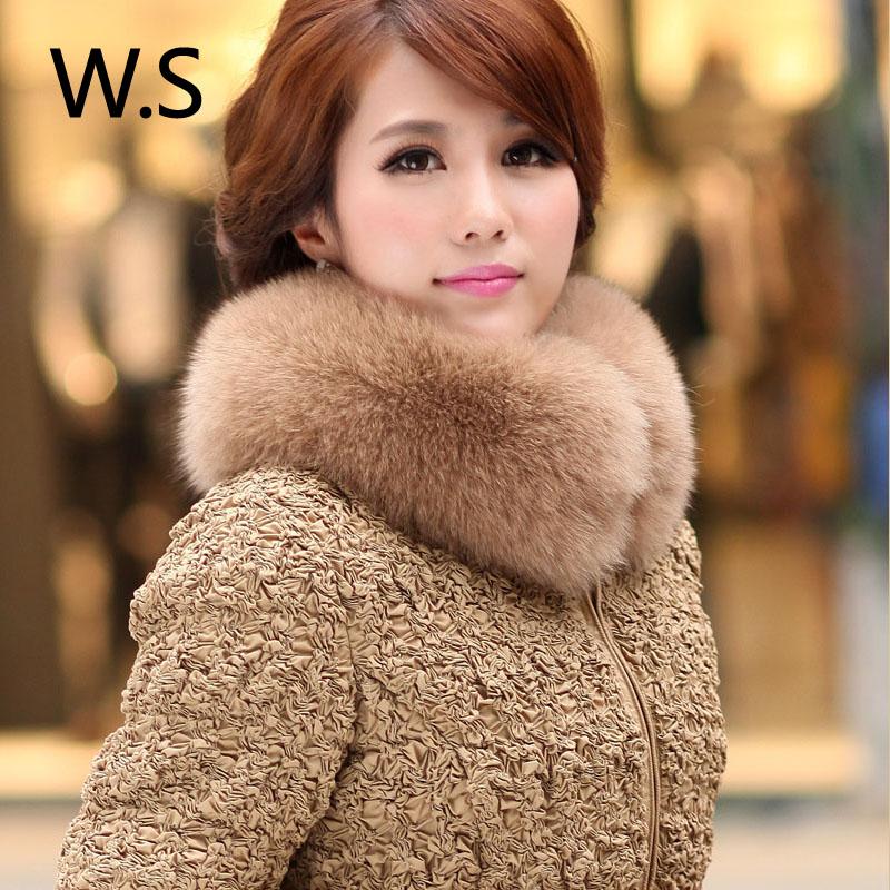 冬装新款韩版大狐狸毛领加厚大码修身显瘦羽绒服女装中长款潮