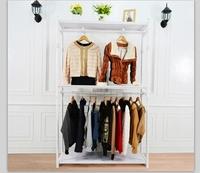 时尚欧式高档男女装服装展示架架高端黑色白色HY0034货架古铜色