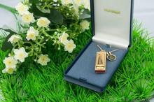 Deep blue painted harmonica Hohner Germany little lady necklace harmonica (14 k gold plated) gift