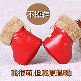 Baby shoes slip thick soft bottom warm down shoes handmade baby shoes 0-1 men and women winter snow boots