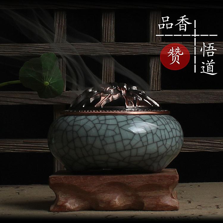 凝翠阁 龙泉青瓷复古香炉 陶瓷薰香炉盘香锥香线香品香悟道必备