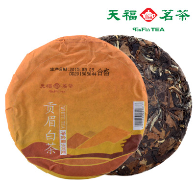Tenfu tea GongMei white tea Authentic white tea fresh leaf Household travel hardcover tea 100 g cotton paper