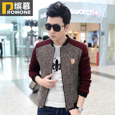 Men's Spring and Autumn coat jacket Bin Mu 2014 fall and winter clothes new Korean men's casual coat jacket