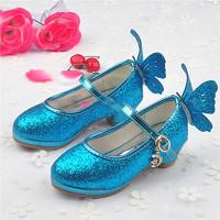 冰雪奇缘水晶鞋高跟鞋女童秋款鞋子公主单鞋儿童新学生小孩演出鞋