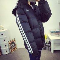 2015冬季新款韩版加厚棉袄面包服三道杠羽绒棉服棉衣女潮情侣外套