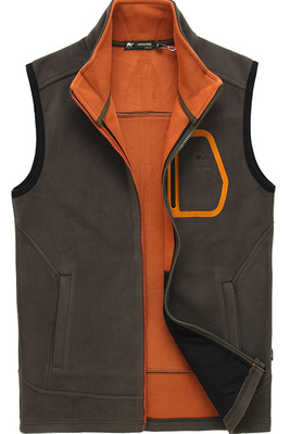 Autumn Divine camel new cotton vest men's vest fleece vest Outdoor Men Vest