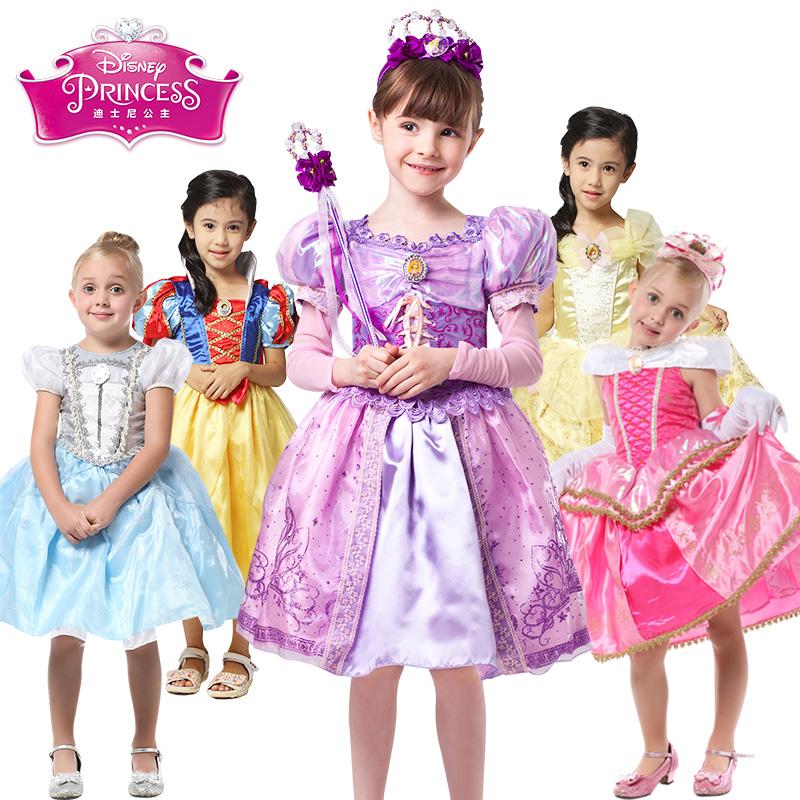 裙皇公主裙女装_迪士尼正品新款迪士尼儿童裙儿童公主裙女童连衣裙夏童装0046