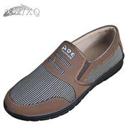 欣清老北京布鞋一脚蹬男鞋春季平跟软底帆布鞋浅口轻便圆头单鞋子