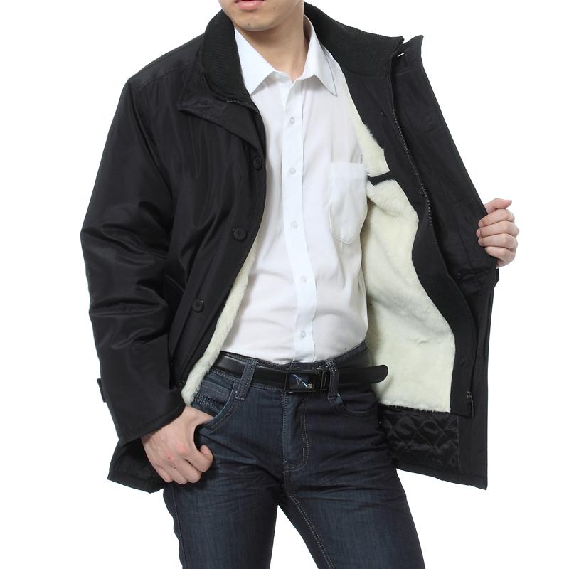 2014新款可拆内胆尼克服男装棉衣中老年加厚棉服老人棉袄加厚外套