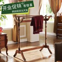 现货特价 美式乡村实木多功能落地衣帽架 卧室简易组合创意挂衣架