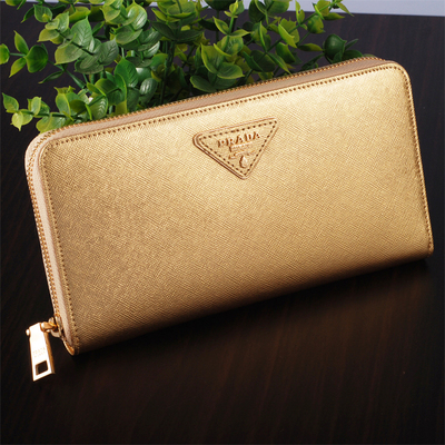 2015 new European and American big ladies leather wallet leather wallet Large Zip Clutch golden cross pattern